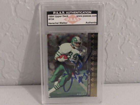 Herschel Walker Philadelphia Eagles signed autographed 1994 Upper Deck #134 PAAS Authetnic slabbed