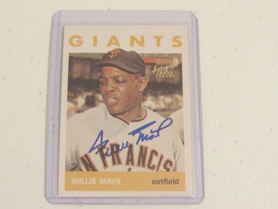 Willie Mays San Francisco Giants 1964 Topps Style Topps Authenticated Autograph baseball card