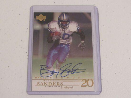 Barry Sanders Detroit Lions signed autographed Upper Deck NFL Legends football card