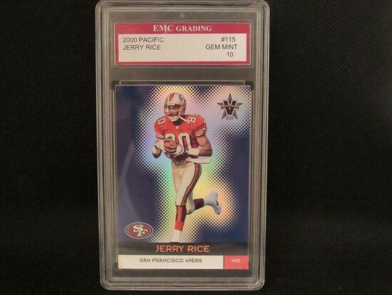 Jerry Rice San Francisco 49ers 2000 Pacific Football #115 EMC graded Gem Mint 10