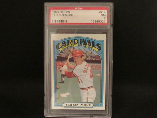 Ted Sizemore St Louis Cardinals 1972 Topps #514 PSA graded NM 7
