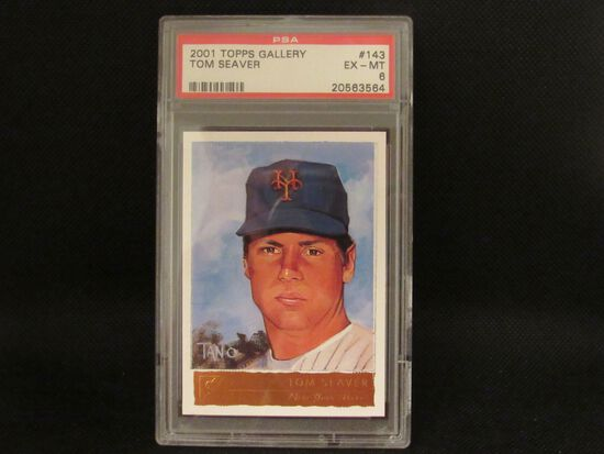 Tom Seaver NY Mets 2001 Topps Gallery #143 PSA graded Ex-MT 6
