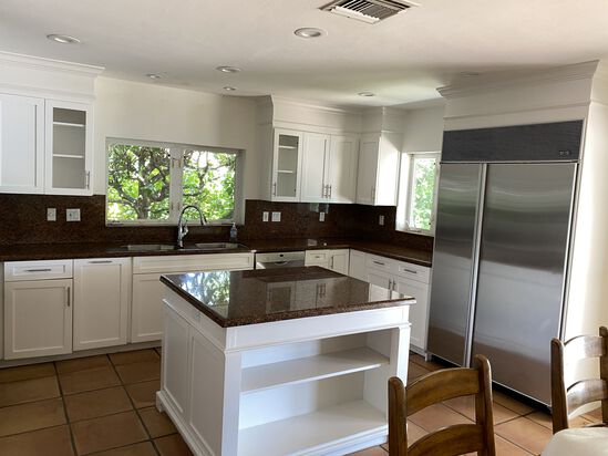Complete 15' Long x 6' Deep Kitchen Cabinet and Counter System including All Upper and Lower Cabinet