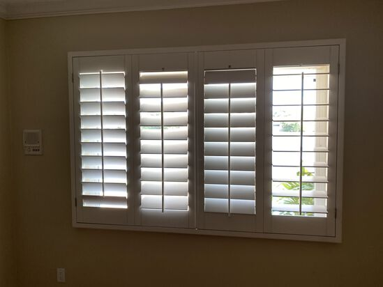 """78""""W x 53""""H Classic Faux Wood Shutter System"""