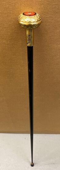 """36"""" United States Marine Corps Brass Handled Walking Stick/Cane"""