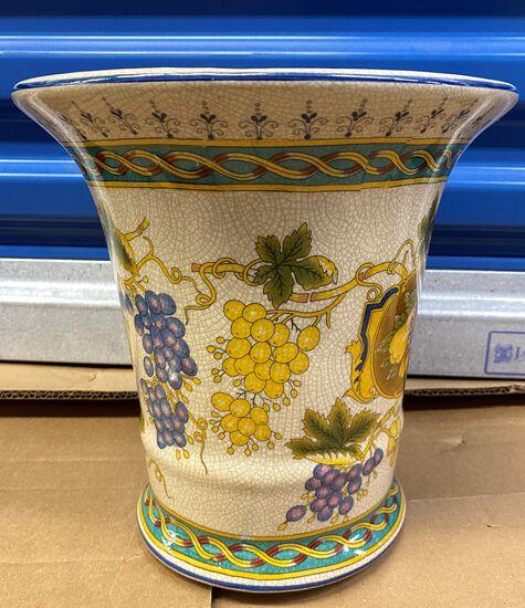 """9"""" Crackle Finished Ceramic Planter"""