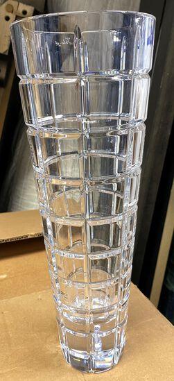 "13"" Cut Crystal Flower Vase"