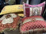 Variety of Fancy  Decorative throw Pillows
