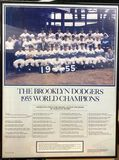Framed Picture of 1955 Brooklyn Dodgers Team World Champions Collectable Piece