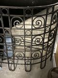 Large Wrought Iron Console Table with Black Granite Top. The Table is Heavy and was taken apart for