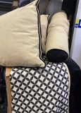 Pillow and Blanket Set. (3) large Square Pillows (1)Bolster Pillow and a Large Decorative Blanket
