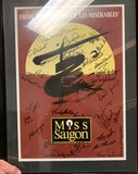 Miss Saigon Original Poster Signed by the entire cast (rare) and both Framed and Matted