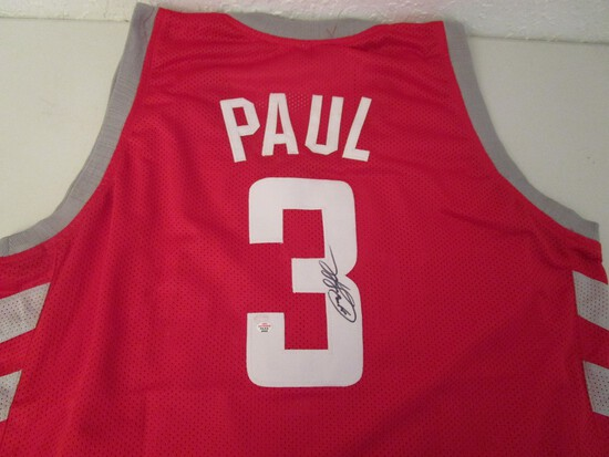 Chris Paul of the LA Clippers signed autographed basketball jersey PAAS COA 552