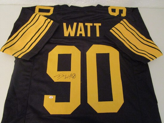 TJ Watt of the Pittsburgh Steelers signed autographed football jersey PAAS COA 318
