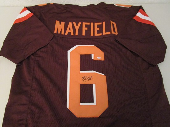 Baker Mayfield of the Cleveland Browns signed autographed football jersey PAAS COA 716