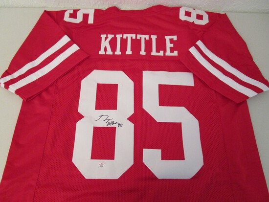 George Kittle of the San Francisco 49ers signed autographed football jersey PAAS COA 648