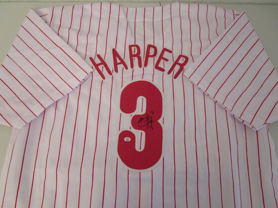 Bryce Harper of the Philadelphia Phillies signed autographed baseball jersey PAAS COA 641