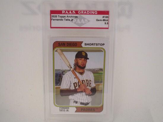 Fernando Tatis Jr San Diego Padres 2020 Topps Archives #185 PAAS graded Gem Mint 9.5