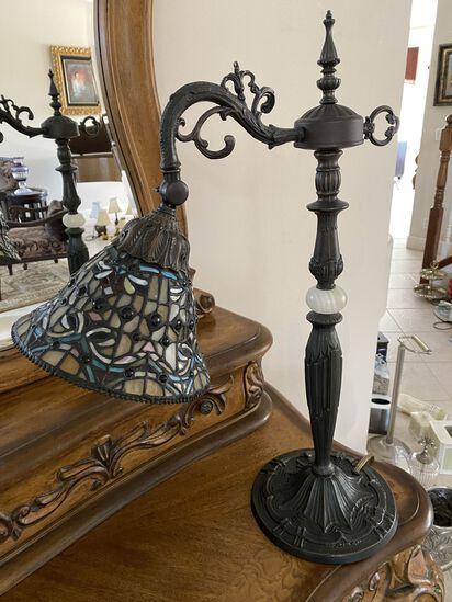 "25"" Tiffany Style Bronze Lamp"