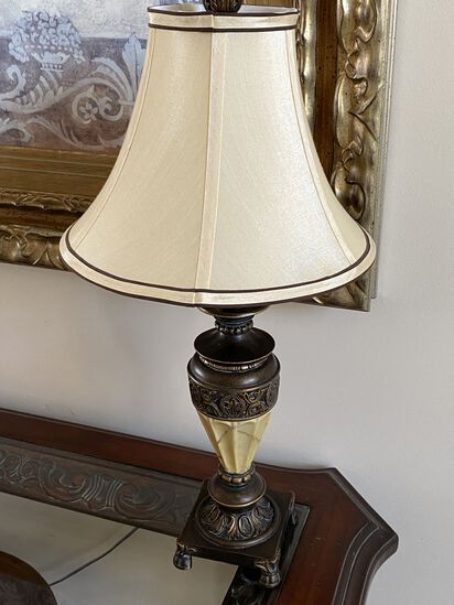 """Pair of 26"""" Decorative Table Lamps with Shade"""
