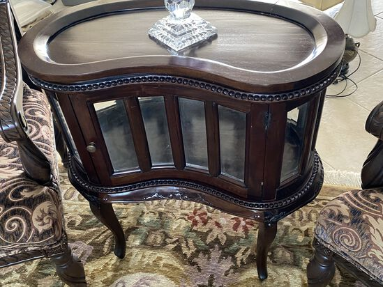 Kidney Tea Table with Serving Tray Top