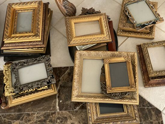 Lot of (25+) Gold Picture Frames