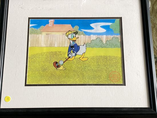 """Donald's Golf Game"" Limited Edition Walt Disney Framed Seriograph"