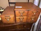 Lot of 3 X 5 Cardex File Boxes (wooden)