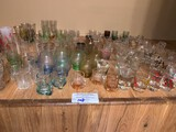 Lot, Miniture Glasses of All Types Appx 100 Pcs