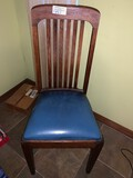 Lot, (1) Side Chair and (5) Framed Prints