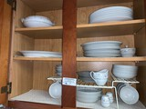 Set of English Garden China with Serving Dishes