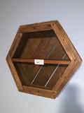 Hexagon Shaped WallMount Shelf Unit