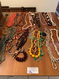 Assorted Necklaces, Costume Jewelry Appx (40) Pieces