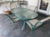 Outdoor Patio Furniture Set, Oval Table and (4) Chairs