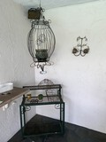 (2) Piece Lot, Outdoor Bakers rack and Birdcage