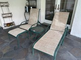 (2) Ourdoor Pation Chairs and (1) Round Glass Top Table