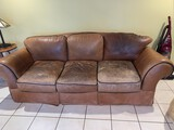 Lot, Leather 3 Zseater Sofa and Matching Leather Chair