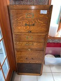 Antique Wood File cabinet, Legal Size