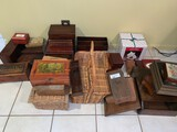 large Lot of Assorted Boxes and Baskets