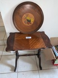 (2) Piece Lot, Side Table and Serving Tray