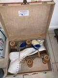 Antique Roller Skates in Case