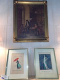 (3) Piece Lot, Early American Painting and (2) French Prints
