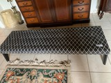 Large Upholstered bench, 6' Long X 15