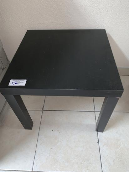 """(2) Black Parsons Tables, 22"""" X 22"""""""