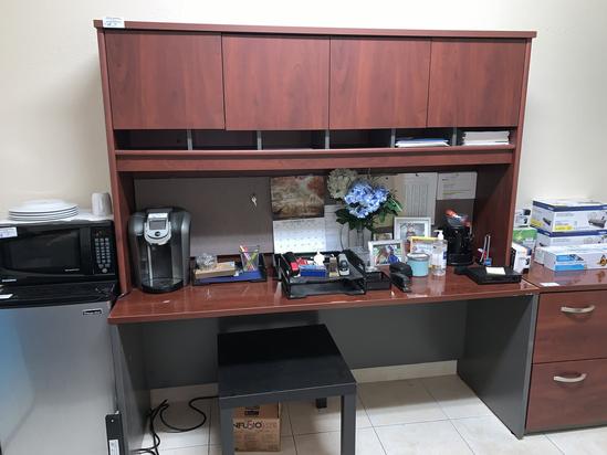 "Executive Credenza/Bookcase, 72"" W X 72"" H"