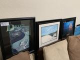 (5) Assorted Framed Pictures: Risk, Drive, Vison