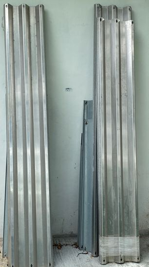 Complete Set Of Aluminum And Steel Window Shutters