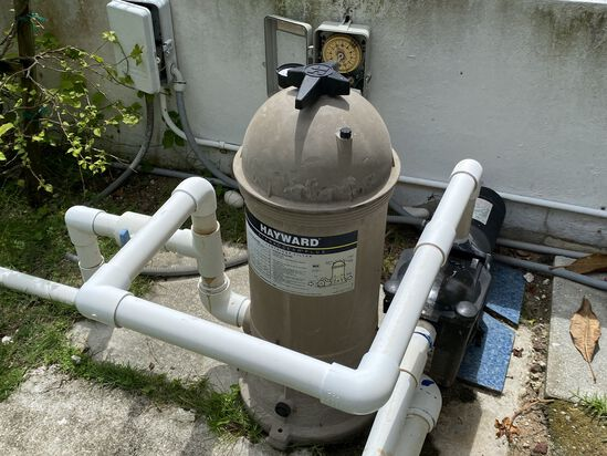Hayward Starwood Clear Pool Pump Filter System With Newly Replaced Pool Pump Motor