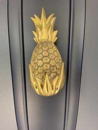"""8"""" Brass Pineapple Door Knocker"""