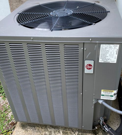 Rheem Late Model 5 Ton Air Conditioning System, With RHLL Series 5 Multi-Position High Efficiency Ai